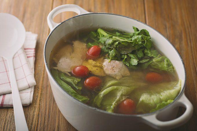 HOSHIKO「畑のおだし」を入れて作ったスープの写真