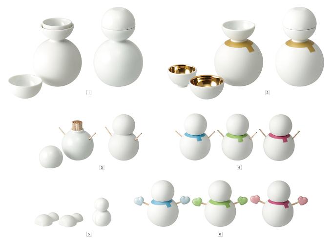 「ceramic japan」の雪だるま型プロダクト各種