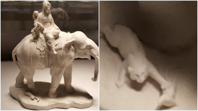 セーヴル初の協力芸術家、沼田一雅による「象とねずみ」