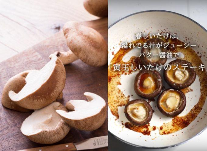 「寅王しいたけのステーキ」レシピ完成写真