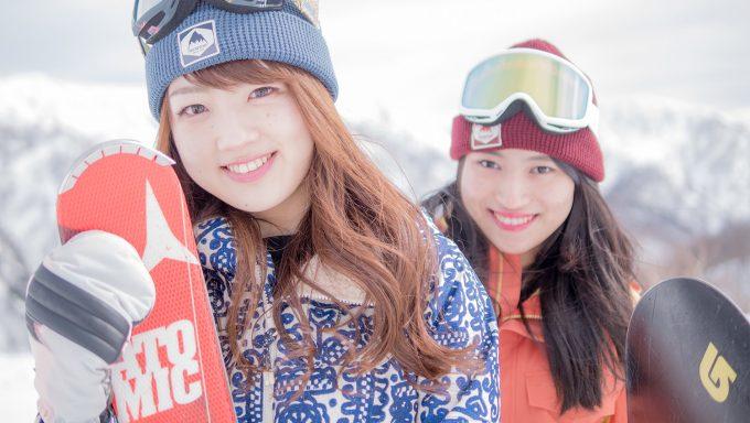 「スキージャム勝山」の可愛いレンタルウエア