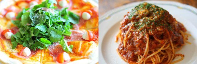 「ラウンジ伊炉里」の本格ピザとパスタ