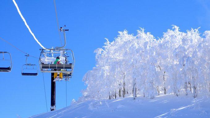 スキージャム勝山の美しい雪景色