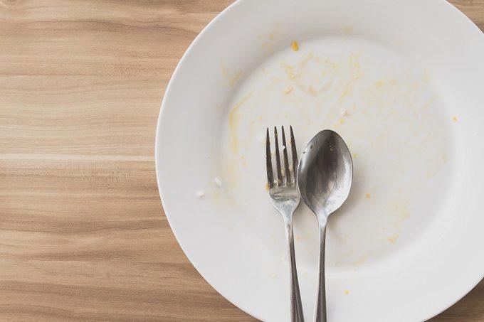 腹八分目を目安に、量が多ければ残しましょう