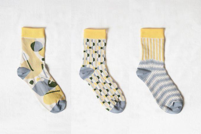 3種類ある靴下の柄