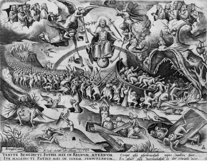 ピーテル・ブリューゲル1世が下絵を手掛けた作品「最後の審判」