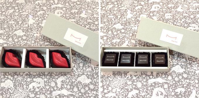 真っ赤な唇のモチーフや、バニラを贅沢に使った様々なチョコ