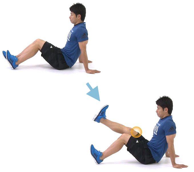 太もも前の筋肉を鍛えるエクササイズ「レッグエクステンション」の手順