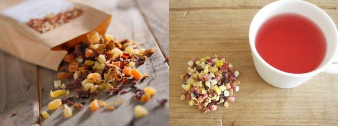 おすすめドライフルーツ、TEAtriCOのドライフルーツを使った食べるお茶