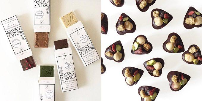 ほとんどの工程が手作業で、丁寧に作られたチョコレートたち