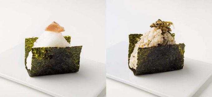 「onigiri stand Gyu!」の鮭と玄米のおにぎり