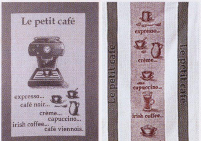 「COUCKE」のコーヒーが描かれたキッチンタオル