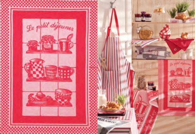 「COUCKE」の赤いギンガムチェックのキッチンタオル