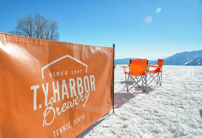 白馬岩岳の山頂にある期間限定「T.Y.HARBOR(ティー・ワイ・ハー バー)」ポップアップバーの写真2