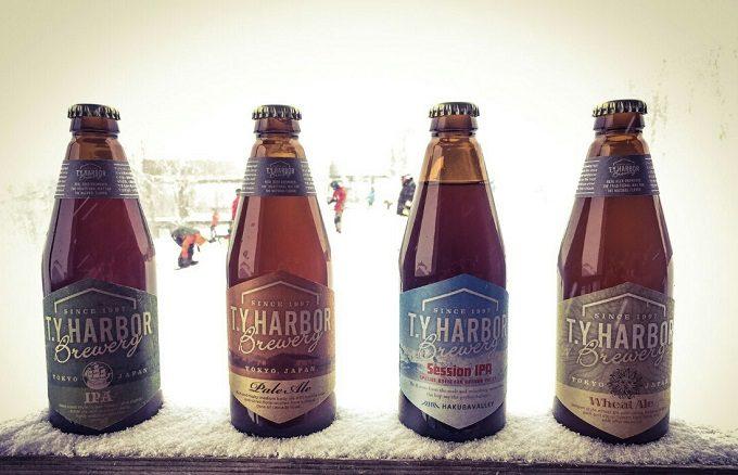 白馬岩岳にある「T.Y.HARBOR(ティー・ワイ・ハー バー)」ポップアップバーで飲めるビール2