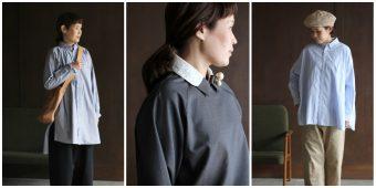 一枚あるだけできちん感と爽やかさを演出。女性らしさたっぷりのシャツコーデ