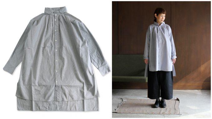 UNIVERSAL TISSUの個性的なロングシャツ