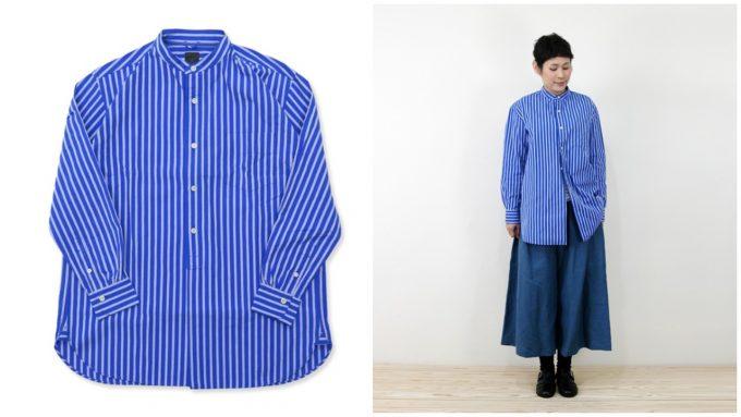 「maillot マイヨ」のストライプシャツ