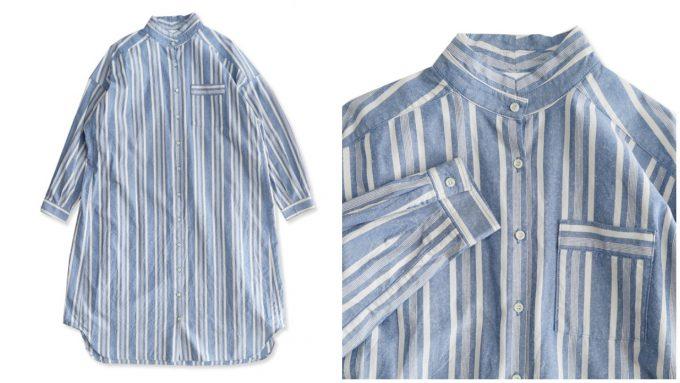 「yuni ユニ」のコットンシルクのシャツワンピース