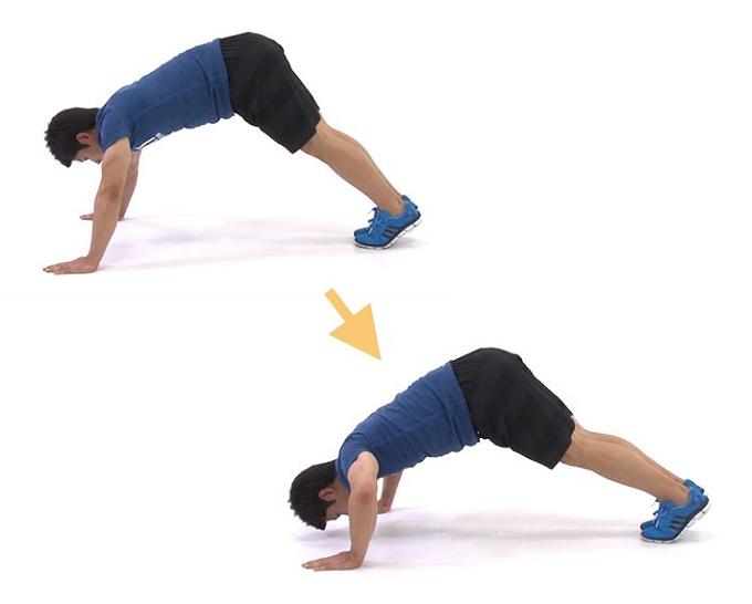 大胸筋の上部を鍛えるエクササイズの手順