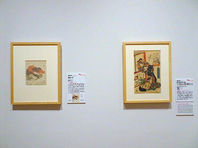 葛飾北斎が描いた江戸女性の美人画2点