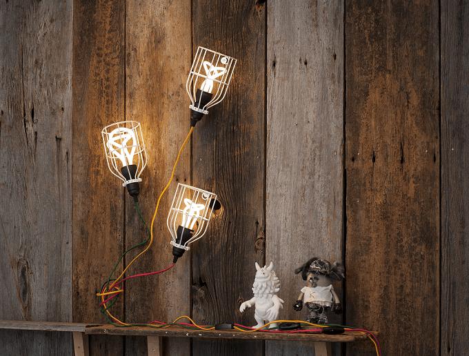 LineMeの照明ケーブルとランプガード
