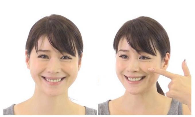 ほうれい線と顔のたるみの予防につながる顔ヨガ「リフトアップ」の手順