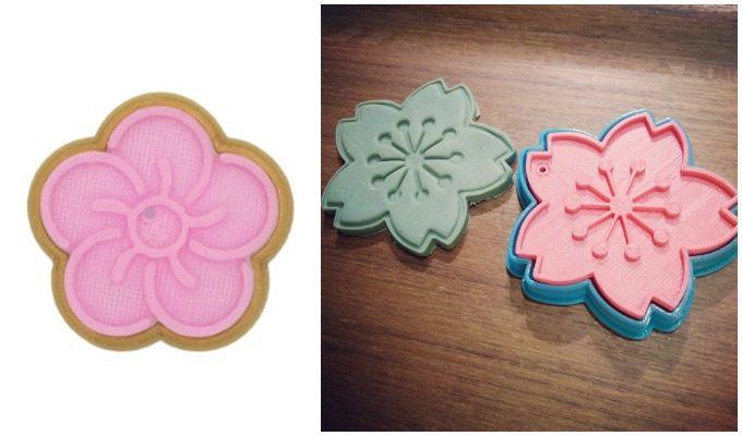 梅と桜の形のクッキー型