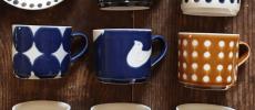 沖縄の凸凸製作所のマグカップとお皿