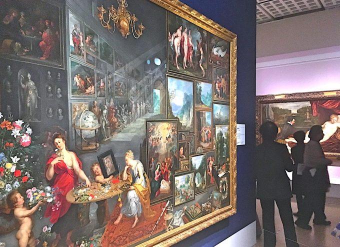 プラド美術館所蔵、ブリューゲルらの作品「視覚と嗅覚」