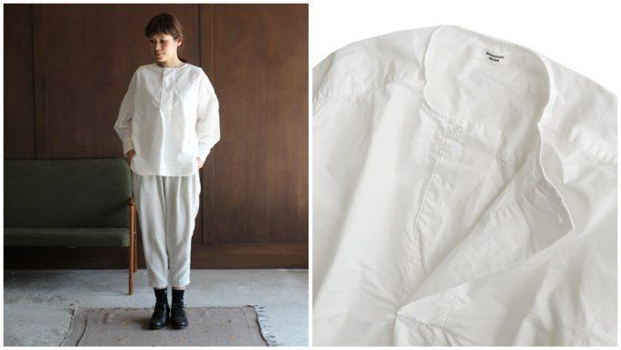 春夏コーデにおすすめのシャツ、シンプルでガーリーな白シャツとその白シャツのコーディネート例