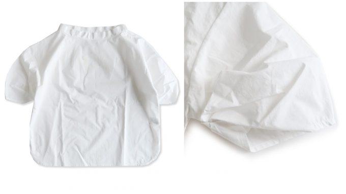 春夏コーデにおすすめのシャツ、ショート丈の白シャツとその白シャツの袖口
