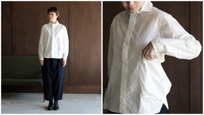 春夏コーデにおすすめのシャツ、シンプルかつ遊び心ある白シャツとその白シャツのコーディネート例