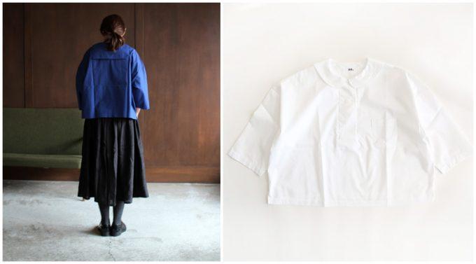 春夏コーデにおすすめのシャツ、ガーリーな雰囲気の白シャツとその白シャツのコーディネート例