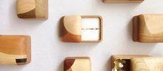 丸みと寄木の色に釘付け。木の温もりあふれる「フジタマリ」の小物収納