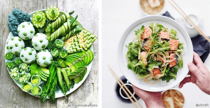 インスタ映えするフォトジェニックなサラダの盛り付け2パターン