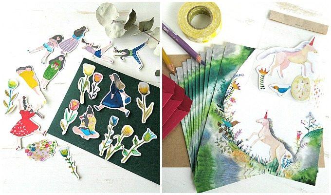 「シロヤギ紙企画」のレターセットやシール