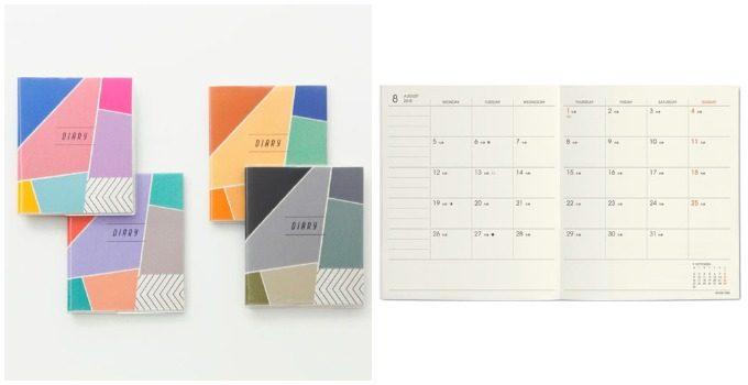 おしゃれで機能的な文房具がおすすめの「HIGHTIDE」のポップでかわいい手帳