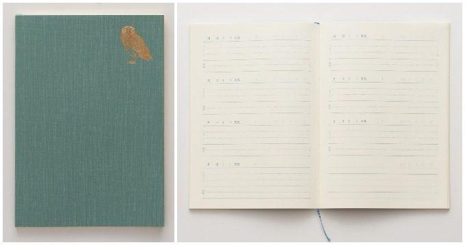 「おやすみ日記」を開いたところ