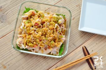タレまで作って15分!冷蔵庫で5日保存可能な常備菜。豚しゃぶアレンジレシピまとめ
