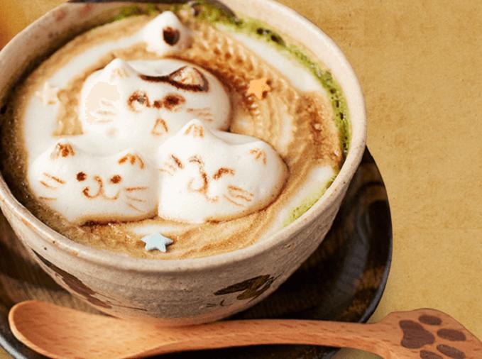 本物の猫がいない猫カフェ「押上猫庫」の猫の3Dラテアート