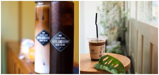 期間限定のドリンクやスコーンが楽しめる長崎のカフェ「DRIC(ドリック)」のアイスコーヒーとアイスカフェオレ