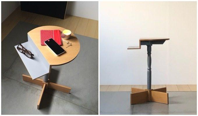 LUFFの不思議な形のサイドテーブル「SIDE TABLE」