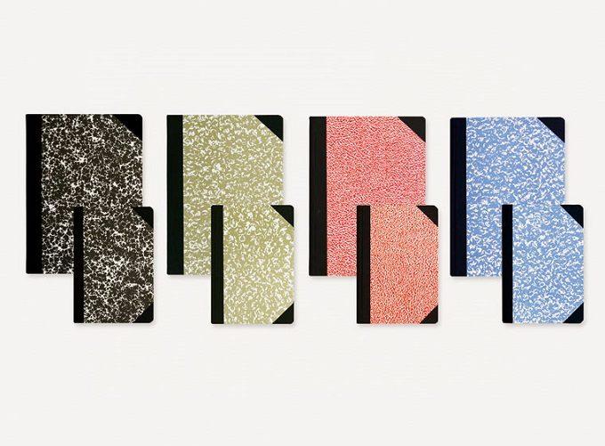 新生活におすすめのノート、「エミリオ・ブラガ」のマーブル模様が美しい4色のノート