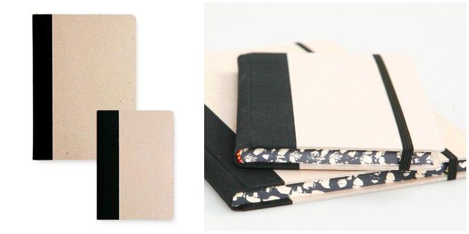 新生活におすすめのノート、「エミリオ・ブラガ」のシンプルなプレーンタイプのノートとそのノートのマーブル模様の小口