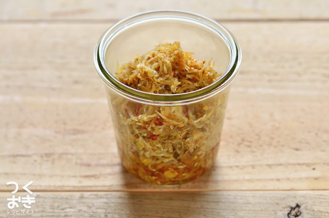 ごはんのお供におすすめな簡単常備菜、しらすの香味ごま炒め