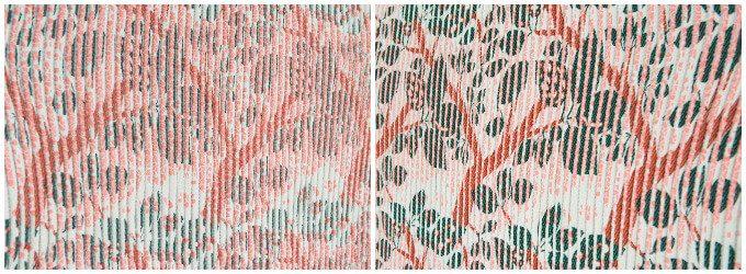 テキスタイルブランド「YURI HIMURO」の桜の木をイメージしたテキスタイル