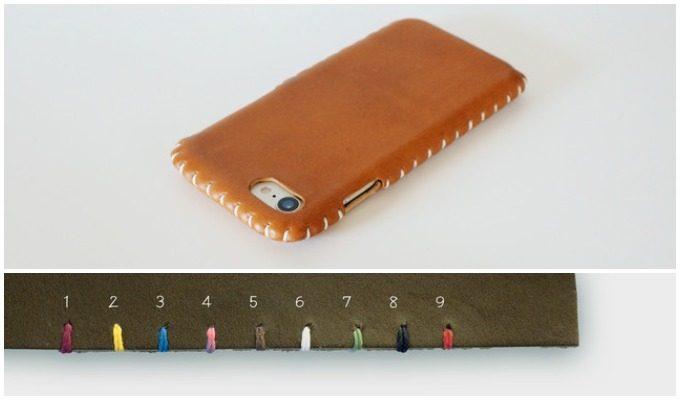 toupieの縫い目が可愛いスマートフォンケース(ステッチの殻カラー)