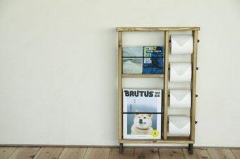 すっきり収納でカフェのような空間に。おしゃれで便利なトイレットペーパーホルダー特集