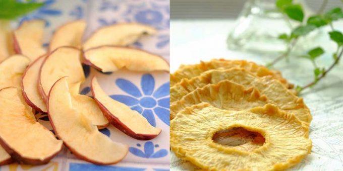 リンゴとパイナップルのドライフルーツ